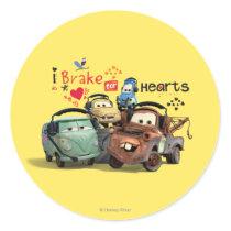 I Brake for Hearts Classic Round Sticker