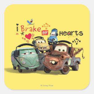 I Brake for Hearts Square Sticker