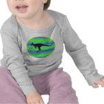 I Brake for Kangaroos children's long-sleeved tee
