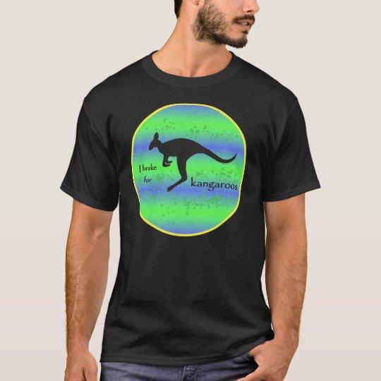 I Brake for Kangaroos men's t-shirt