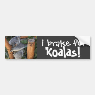 i brake for KOALAS! cute Bumper Sticker Car Bumper Sticker
