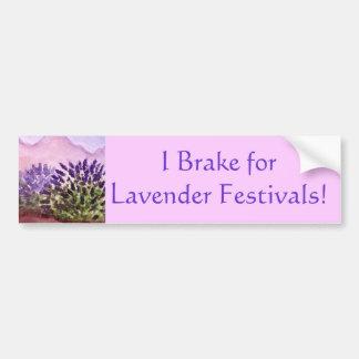 """I Brake For Lavender Festivals"" Bumper Sticker"