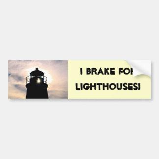 I Brake for Lighthouses Car Bumper Sticker