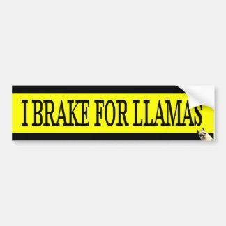 I Brake For LLAMAS Bumper Sticker Car Bumper Sticker