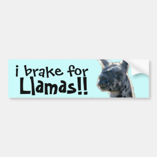 i brake for Llamas! cute Bumper Sticker Car Bumper Sticker