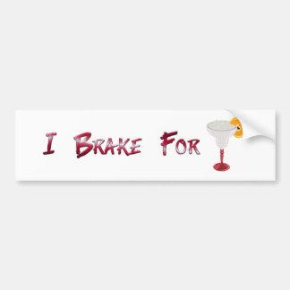 I Brake for Margaritas Bumper Sticker