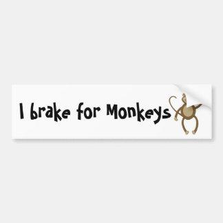 I brake for Monkeys Bumper Sticker