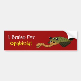 I Brake for Opabinia! Bumper Sticker