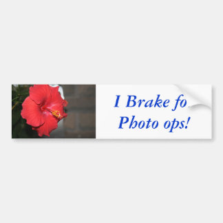 I Brake for Photo ops! Bumper Sticker