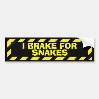 I brake for snakes yellow caution sticker