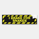 I brake for snakes yellow caution sticker car bumper sticker