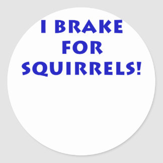 I Brake for Squirrels Classic Round Sticker