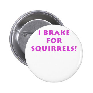 I Brake for Squirrels Pinback Button