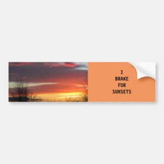 """""""I BRAKE FOR SUNSETS"""" BUMPER STICKERS"""