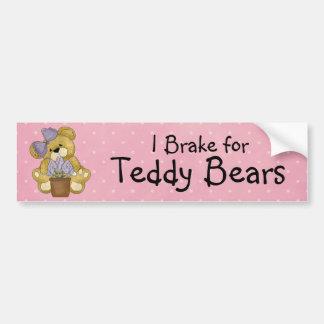 I Brake for Teddy Bears Bumper Sticker