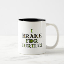 I Brake For Turtles 1 Two-Tone Coffee Mug