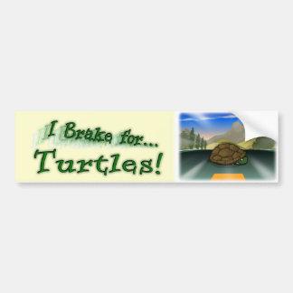 I Brake for Turtles! Bumper Stickers