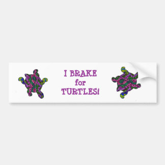 I Brake for Turtles Bumper Sticker 2