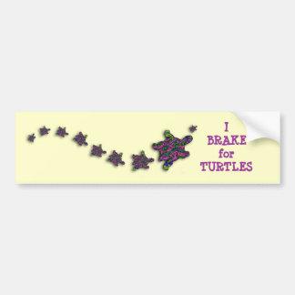 I Brake for Turtles Bumper Sticker Car Bumper Sticker
