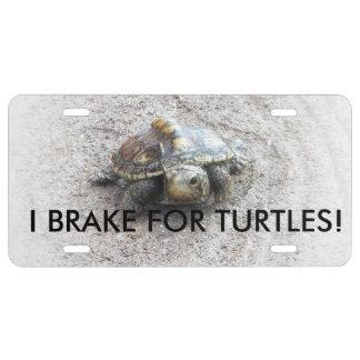 I Brake for Turtles car tag License Plate