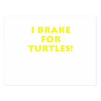 I Brake for Turtles Postcard