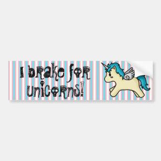 I Brake For Unicorns Bumper Sticker Car Bumper Sticker