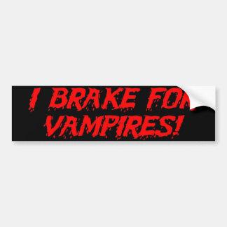 'I Brake for Vampires' Bumper Sticker Car Bumper Sticker