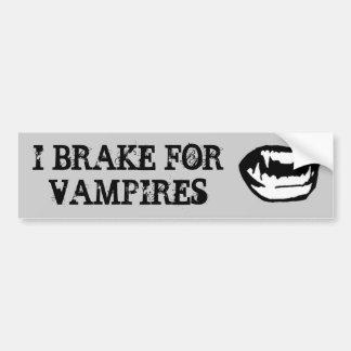 I brake for vampires bumper stickers