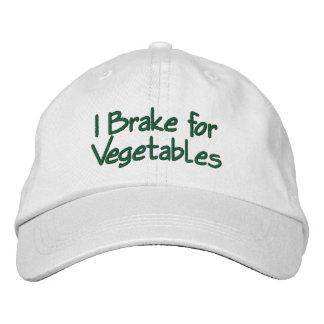 I Brake for Vegetables Embroidered Hat