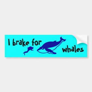 I brake for whales bumper stickers