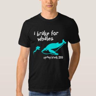 i brake for whales spring break 2010 t shirt