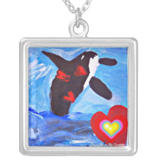 I Breach for Love Orcas Necklace