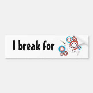 I break for Nawwhal Bumper Sticker