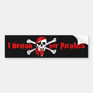 I break for Pirates Car Bumper Sticker