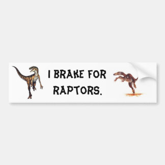 I Break For Raptors Bumper Stickers