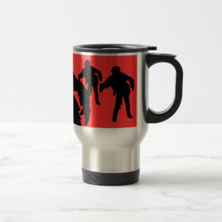 I Break for Zombies Black Silhouettes Travel Mug