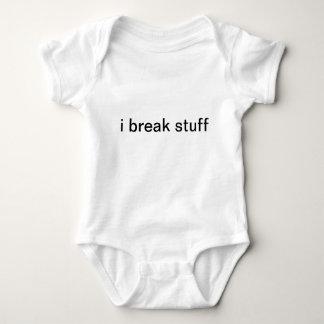 i break stuff baby bodysuit