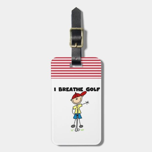 I Breathe Golf Luggage Tags