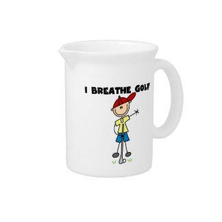 I Breathe Golf Beverage Pitchers