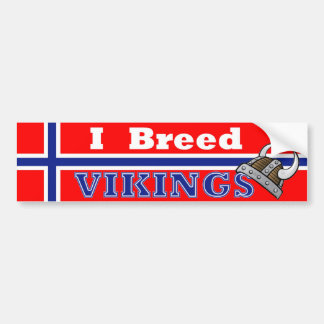 I Breed Vikings Bumper Sticker