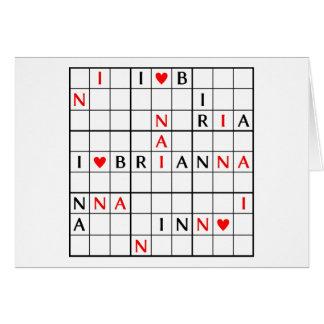 I♥BRIANNA CARD