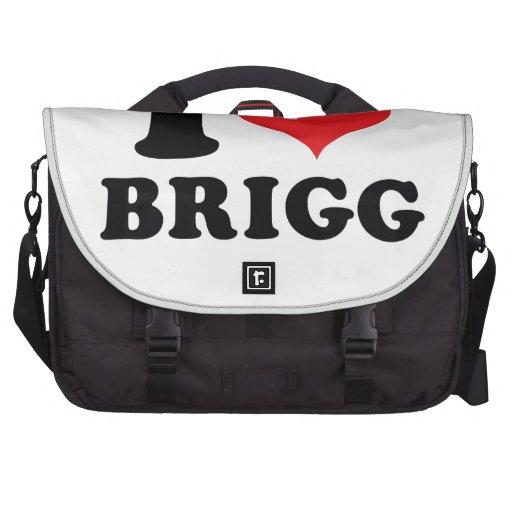 I brigg del corazón/del amor bolsas para portatil