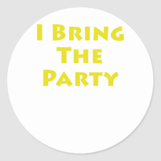 I Bring The Party Stickers
