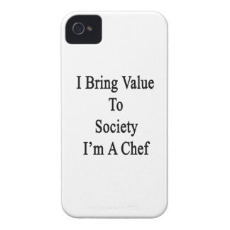 I Bring Value To Society I'm A Chef iPhone 4 Cover