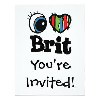 """I británico del corazón (amor) invitación 4.25"""" x 5.5"""""""