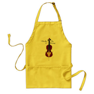 I Broke My G String (Cello) Adult Apron
