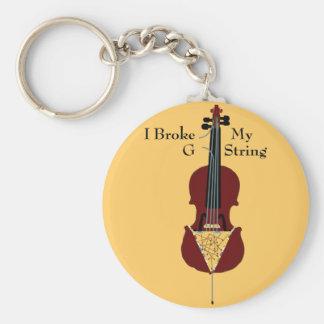 I Broke My G String (Cello) Keychain