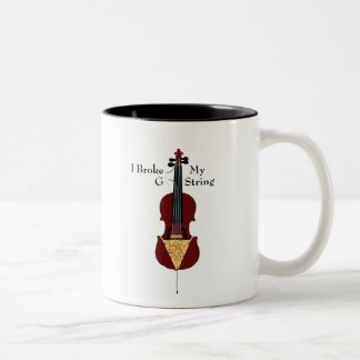 I Broke My G String (Cello) Coffee Mugs