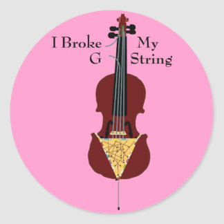 I Broke My G String (Cello) Stickers