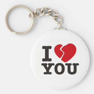 I BROKENHEART YOU BASIC ROUND BUTTON KEYCHAIN